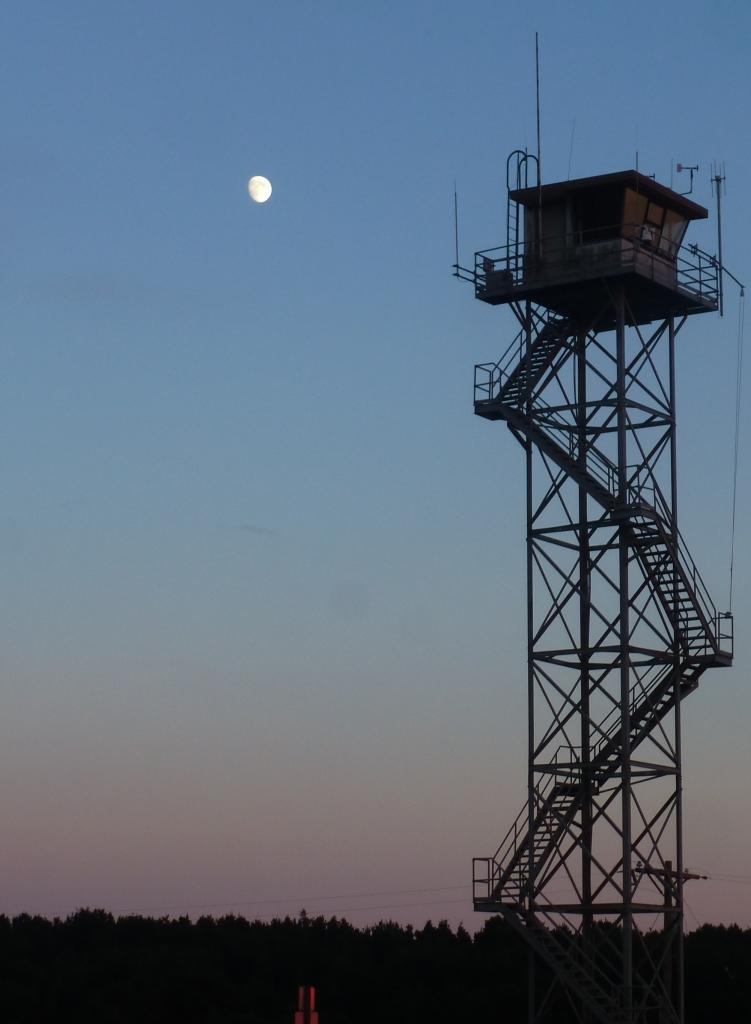 sunset, moon, coastguard