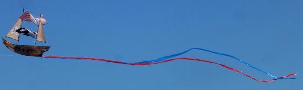 Pirate Ship Kite Sailing In The Blue Sky! PHALL PHOTO 2013
