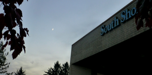 Moon over South Shore Mall, Aberdeen, WA PHALL PHOTO 2013