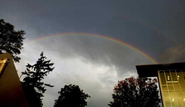 A double rainbow, double the hope. Oct 2nd. PHALL PHOTO