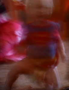 My grandson as whirling dervish superman. This is his speed unless he is sleeping. Love my Cameron. PHALL PHOTO 2014