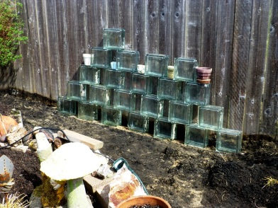 Practiced making glass wall. Will even out and measure and re-do tomorrow.